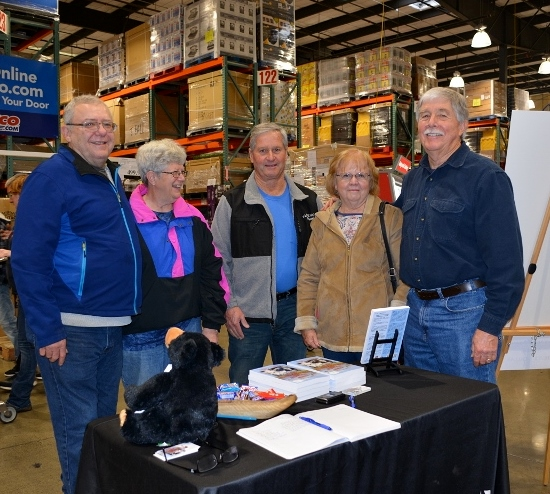 Author Steven T. Callan and friends at a book signing for The Game Warden's Son at the Redding Costco Store on February 4, 2017