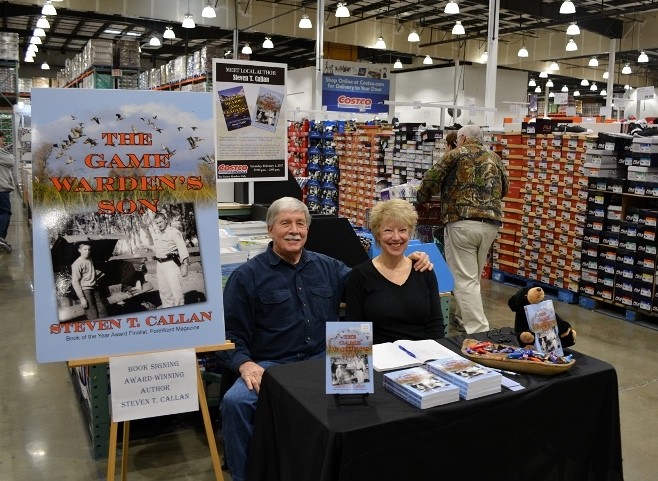 Author Steven T. Callan and his wife, Kathy, at a book signing for The Game Warden's Son at the Redding Costco Store on February 4, 2017