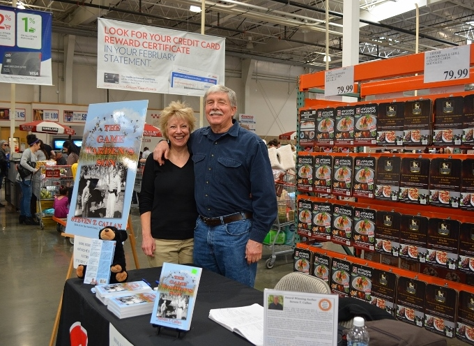 Author Steven T. Callan and Kathy Callan at the book signing for THE GAME WARDEN'S SON at the Chico Costco