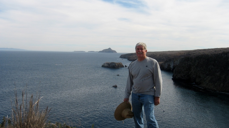Author Steven T. Callan at Channel Islands National Park. Photo by Kathy Callan.