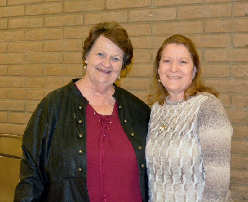 Claire and Kathleen, Orland Alumni Association board members, at the Orland Alumni Association Awards Dinner.