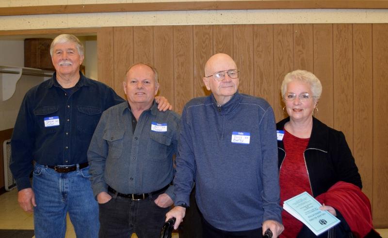 Author Steven T. Callan, Art Tharpe, Terry Barley, and Ann Barley at the Orland Alumni Association Awards Dinner.