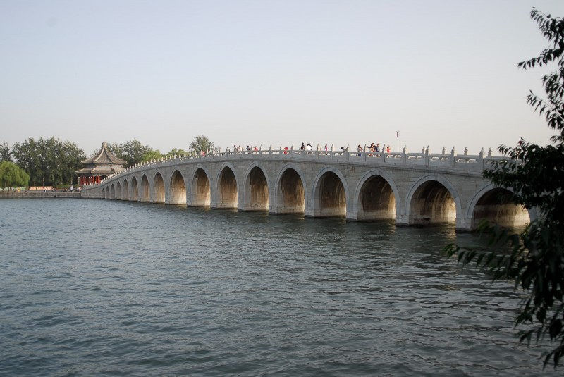 The Seventeen Arch Bridge in the Summer Palace.