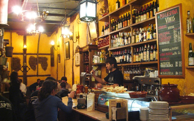 A typical bar in Madrid.