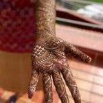 Bhavya's left arm.