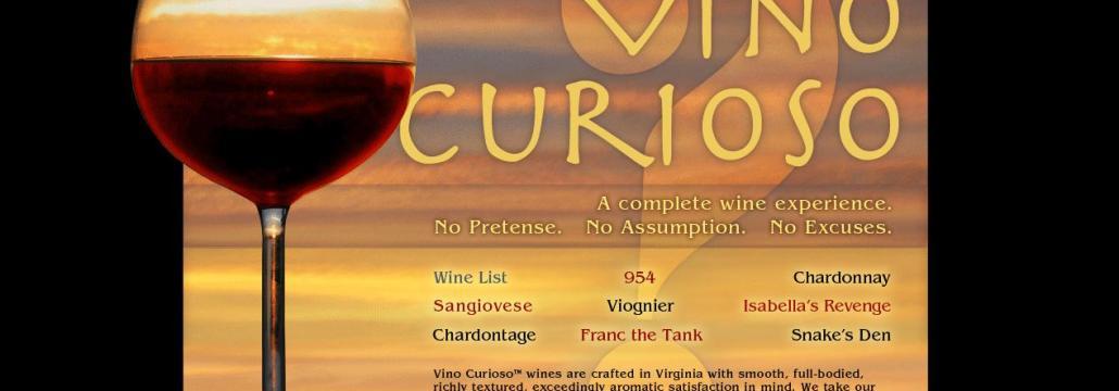 Vino Curioso Website
