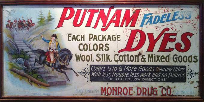 Putnam Dyes Label