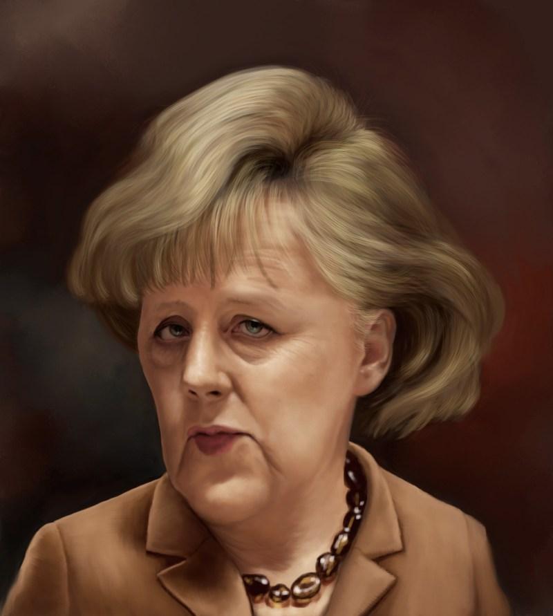 Angela Merkel Painting