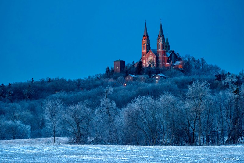Holy Hill evening ice storm