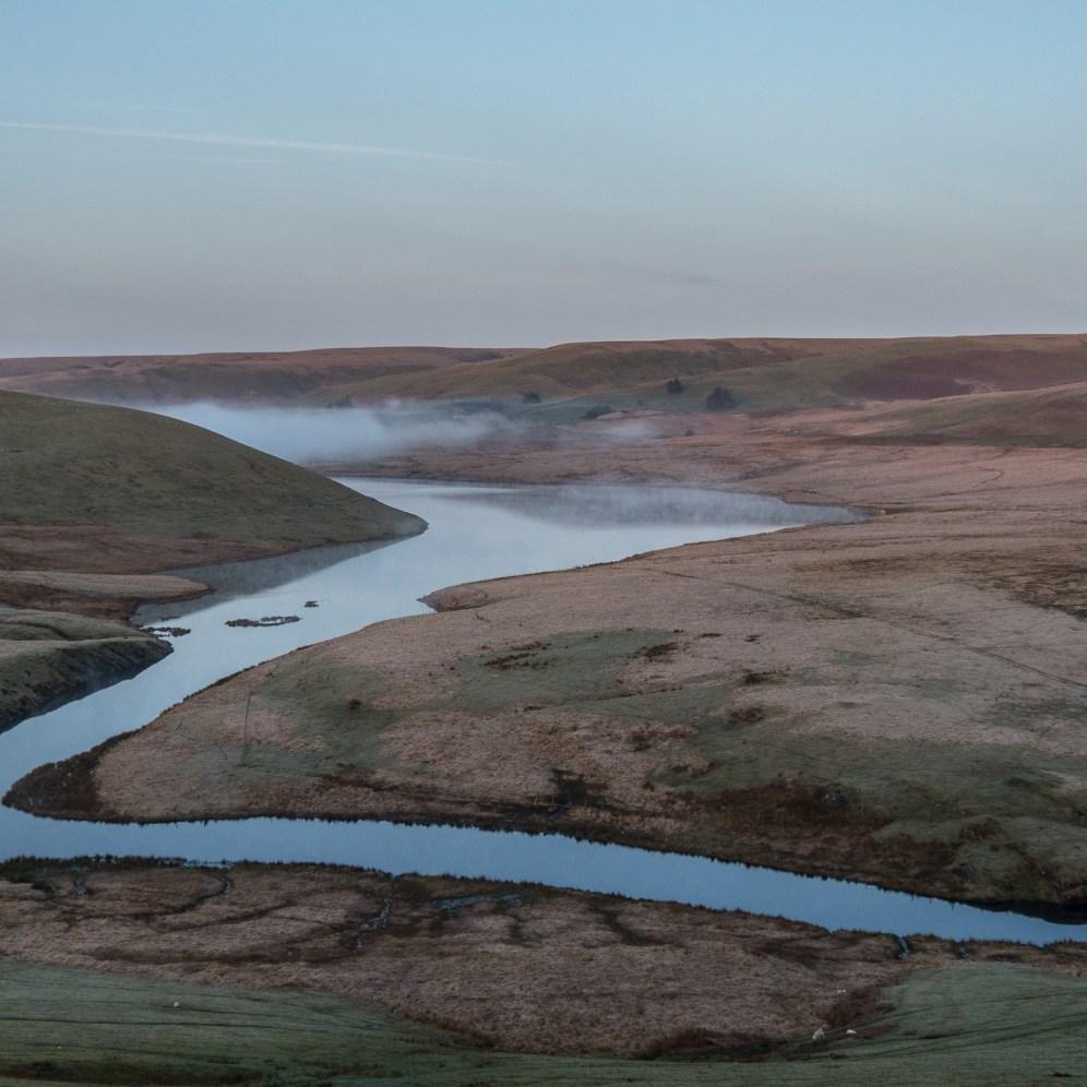 Craig Goch reservoir at the top of the Elan Valley