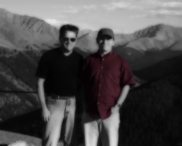 Photo of Steve and Frank atop Independence Pass, Colorado.   Nov-01.