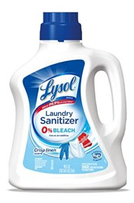 kill staph infection and mrsa with lysol laundry sanitizer