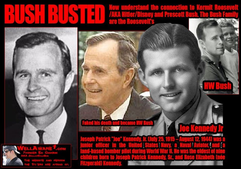 The Bush family is probably the biggest war criminal family in history. The Bush family is related to the Roosevelt family.