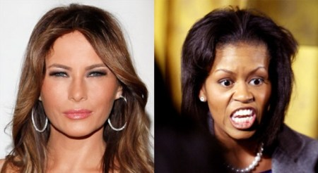 Melania Trump vs Michelle Obama