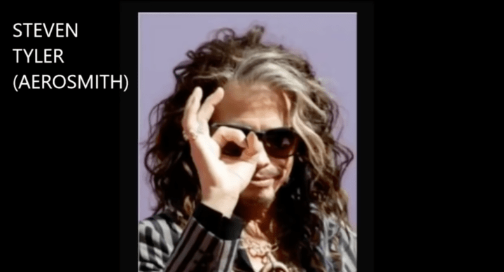 """Steven Tyler is a freemason. Hollywood actors, politicians, news reporters, famous musicians, authors and other famous people are freemasons. These people are puppets of """"the elite."""" In exchange for their obedience, they're rewarded with fame and fortune by their masters."""