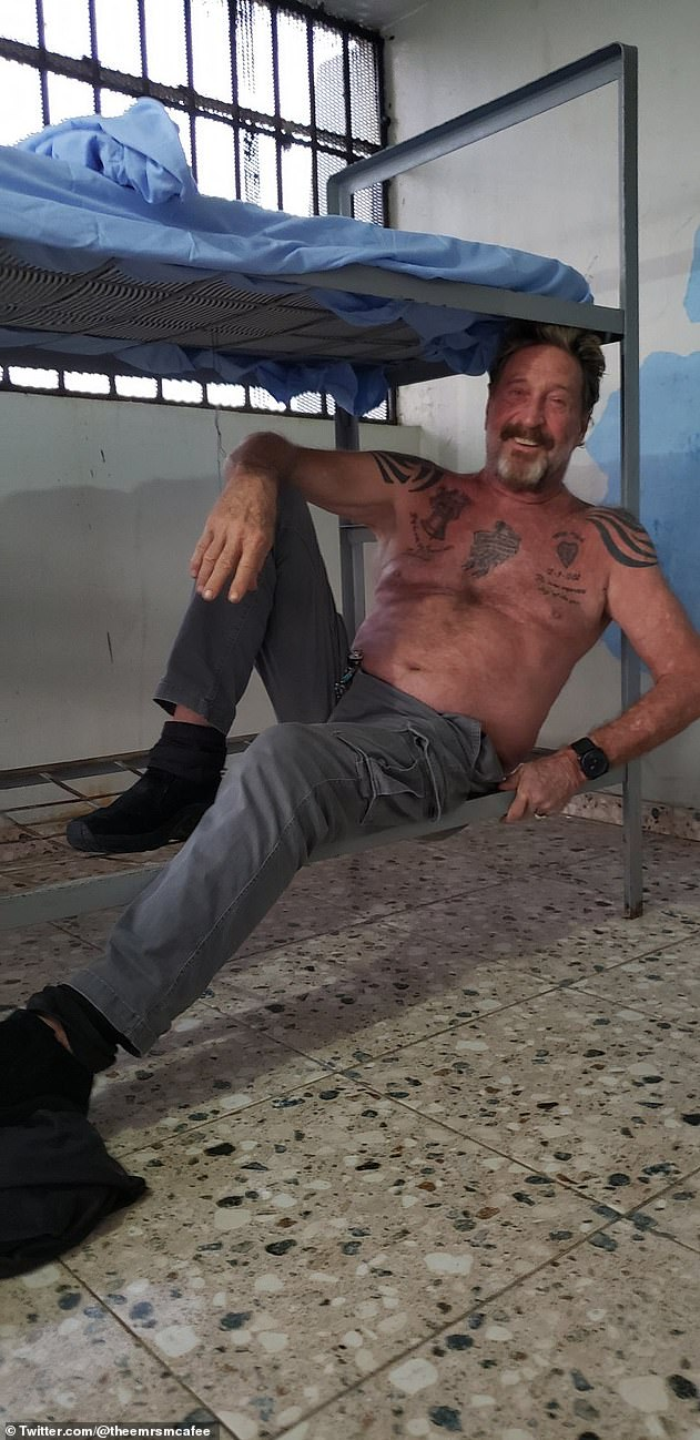 John mcafee dead in jail. For John McAfee to say the food was good in prison and that he had friends there, and things are fine, doesn't add up to suicide.