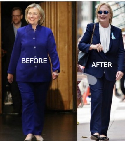 Hillary Clinton also has multiple impersonators. There was the woman who impersonated her in the first Presidential debate, and another woman, far slimmer than the real Hillary, who impersonated her hours after the real Hillary was filmed fainting in public. Take a lot at the pics. Do you believe they are the same woman?