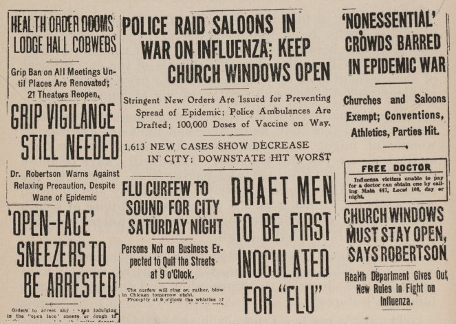 Headlines from newspapers in Chicago.Credit...Chicago History Museum/Getty Images
