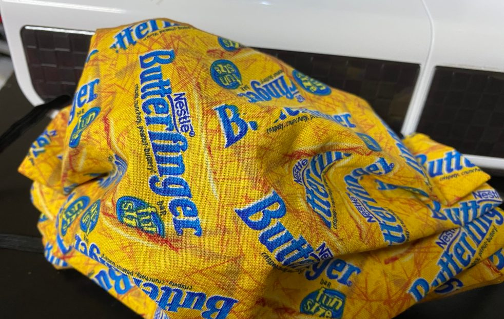 Butterfinger Face Mask - That yummy candy bar - show off your love for Butterfinger Candy with this face mask #Butterfinger