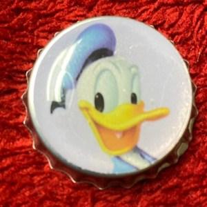 Donald Duck Bottle Cap Magnet #DonaldDuck