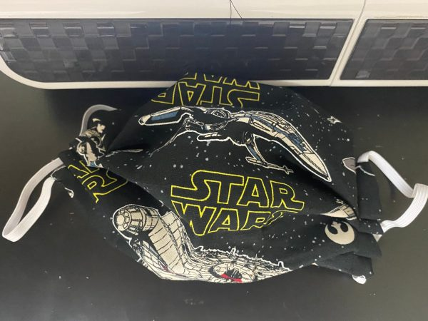 Star Wars Face Mask a face mask for the Star Wars Fan showing off a few of the spacecrafts used. #StarWars