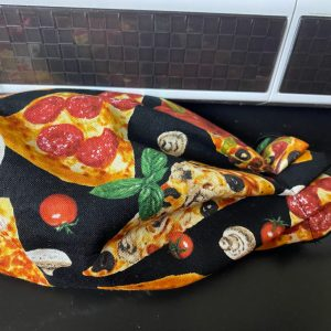 Pizza Face Mask - a face mask with different kinds of slices of pizza on it. #Pizza