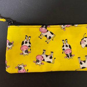 Holstein Cow Zipper Pouch - A Holstein cow themed zipper pouch. #ZipperPouch