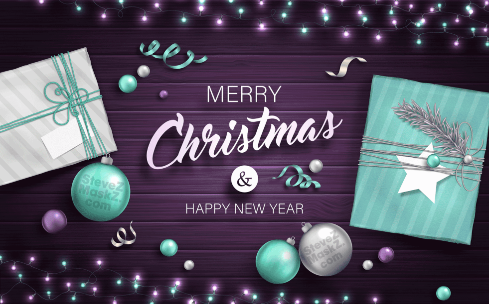 Merry Christmas - SteveZ MaskZ would like to wish you and your family a Merry Christmas and a Happy New Year! #MerryChristmas #Christmas
