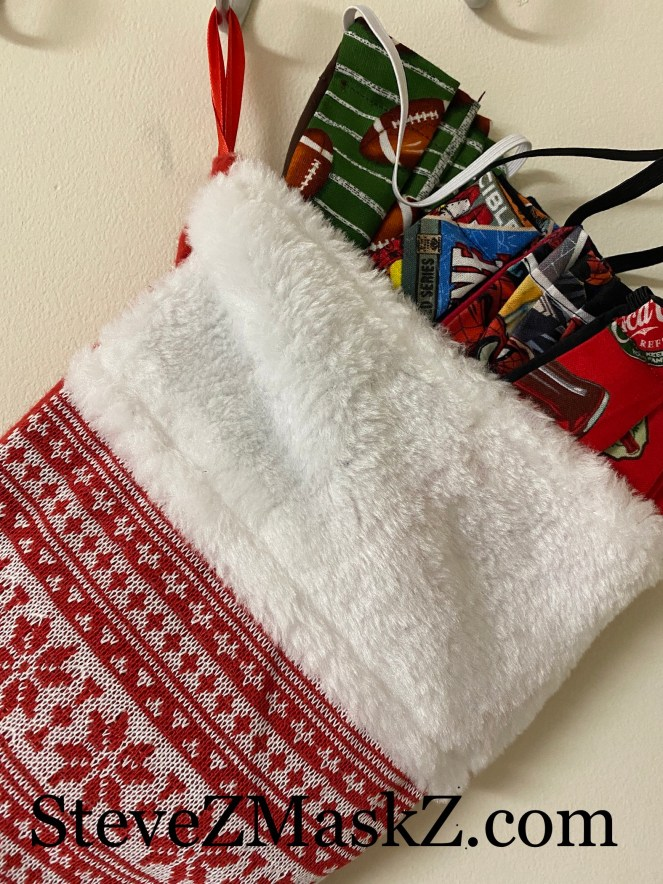 Face Masks Make Great Stocking Stuffers - That's right those face masks that we have to wear, can make a nice addition to stuffing a loved ones stocking with. #StockingStuffers #FaceMasks