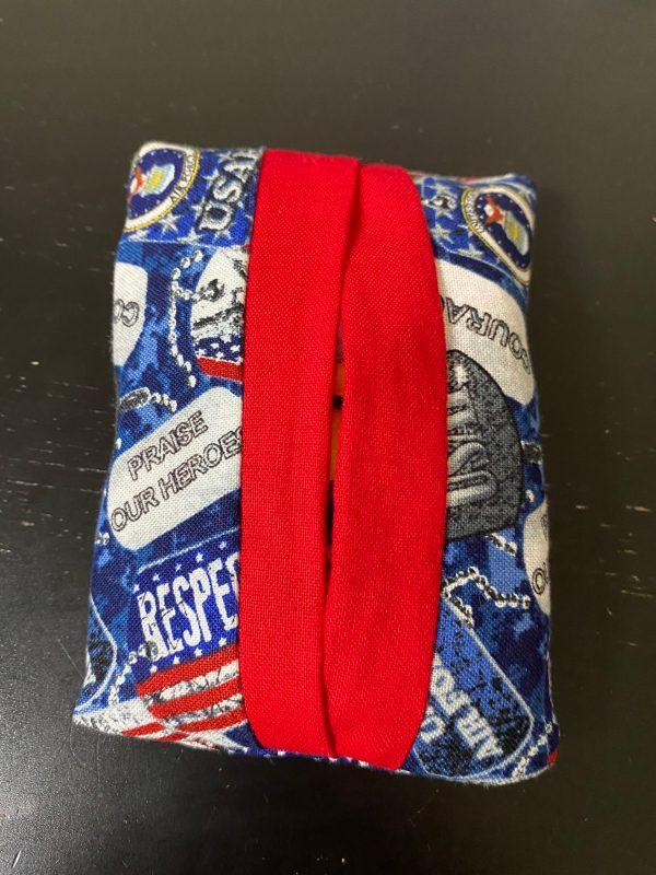 USAF Pocket Tissue Holder - An Air Force Pocket Tissue holder with dog tags on it. #USAF #AirForce