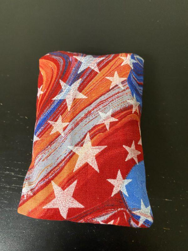 Oilslick Patriotic Stars Pocket Tissue Holder - a Red, White and Blue Patriotic tissue holder.