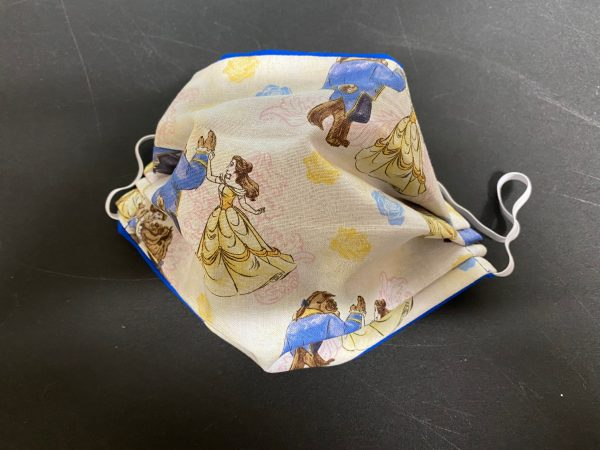 Beauty and the Beast Face Mask - This face mask has Belle and The Beast dancing on it. #BeautyBeast