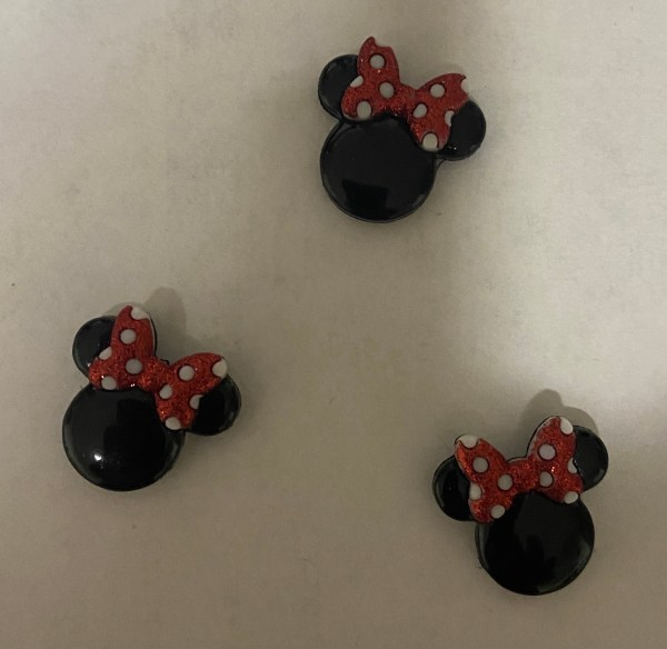 Minnie Mouse Ears Magnet - This is a magnet of Minnie Mouse Ears. #MinnieMouse
