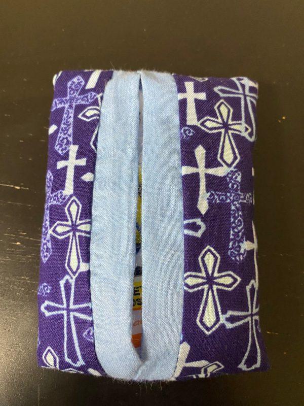Blue Crosses Pocket Tissue Holder - A faith-based pocket tissue holder with crosses on it. #Cross #Crosses