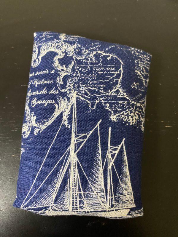 Blue Nautical Pocket Tissue Holder - a Nautical-theme pocket tissue holder.