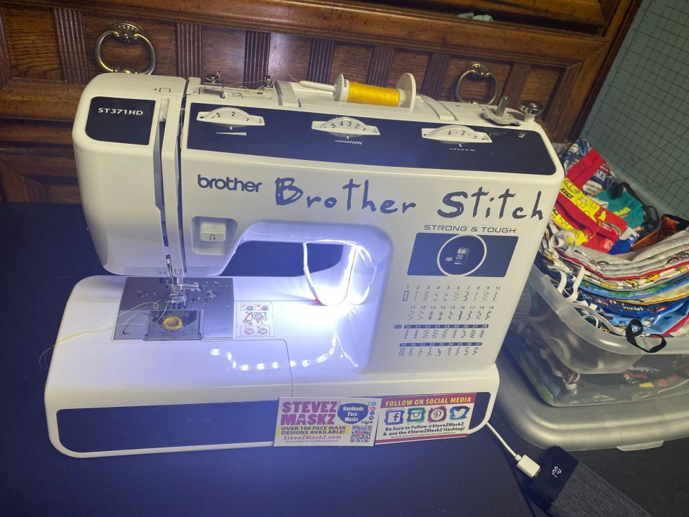 how to add a LED Strip to your sewing machine after