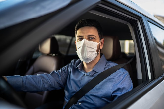 Slammed for wearing a face mask in car alone - There are plenty of reasons why a person in their car alone is wearing a face mask and there is no need to slam them.  (MetroCreative Image)