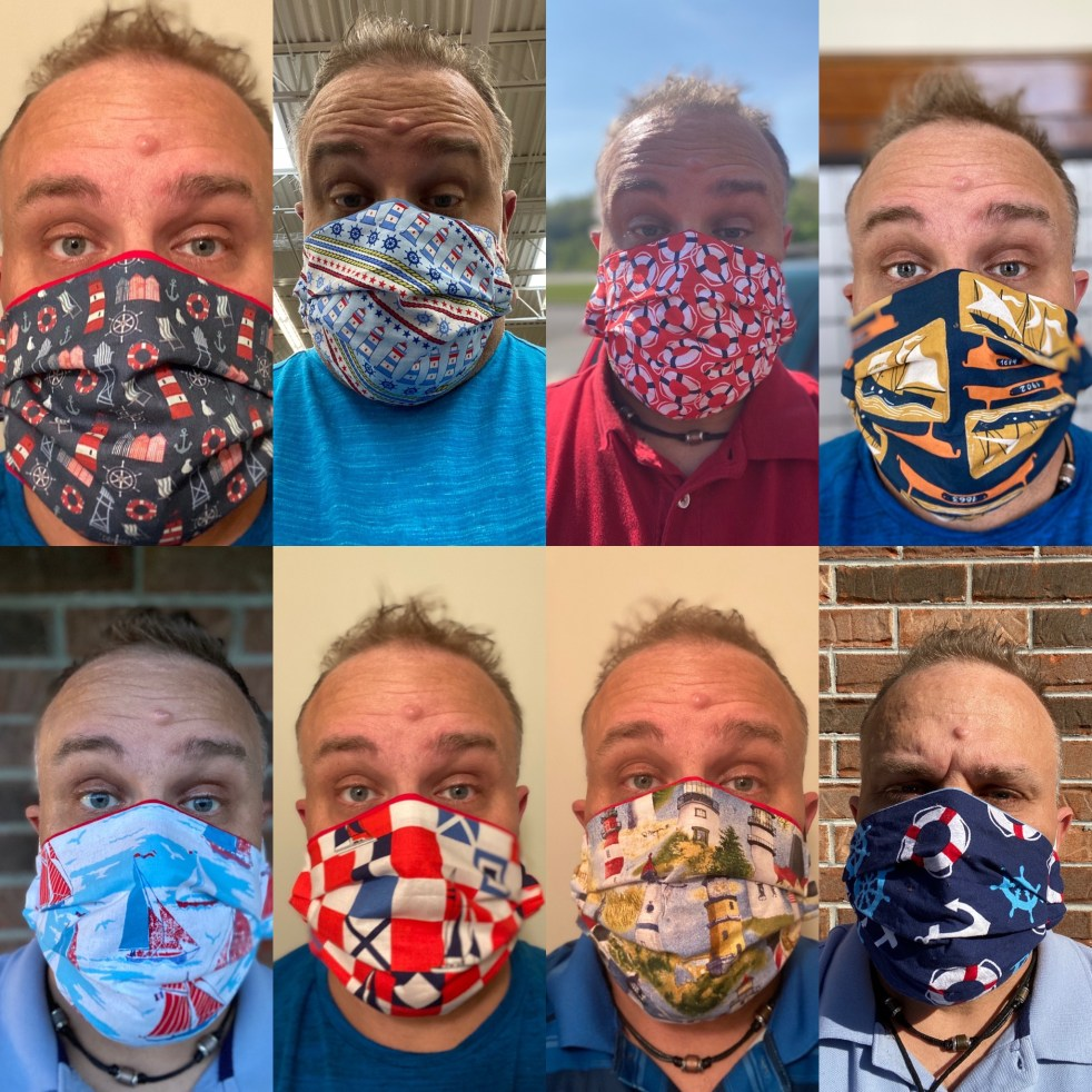 Nautical Face Masks - Here are some of the Nautical-themed face mask that I can make and you can wear! #Nautical #NauticalFaceMasks