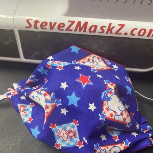Red, White and Blue Snoopy and Woodstock Face Mask - a cool patriotic themed Snoopy face mask. #Snoopy #Woodstock