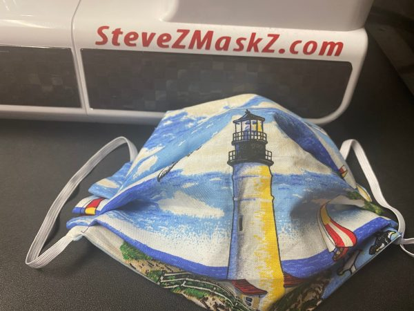 Lighthouses Face Mask - Here is another face mask with lighthouses on it. #Lighthouses