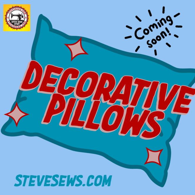Decorative Pillows Coming Soon - A New product will be coming soon to SteveZ MaskZ and these will be pillows using the fabric I have. #DecorativePillows #ComingSoon