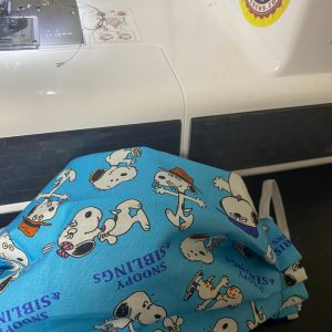 Snoopy & Siblings Face Mask - a face mask with the siblings of Snoopy on it. #Snoopy #SnoopyFaceMask #SnoopySiblings