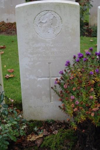 Harold Bradbrook's grave.