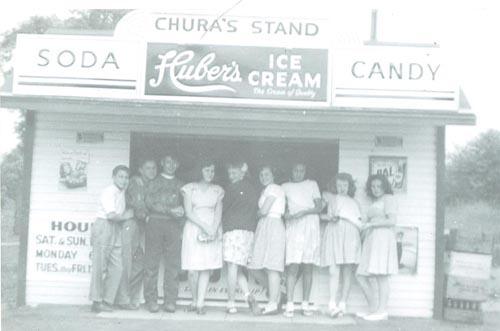 Chura's Stand Circa 1940's Monroe, Conn.