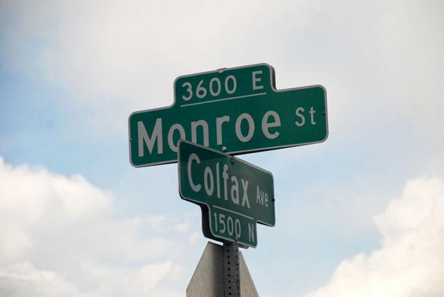 on the corner on colfax and monroe