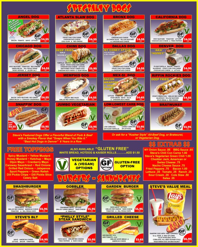 steves hot dogs