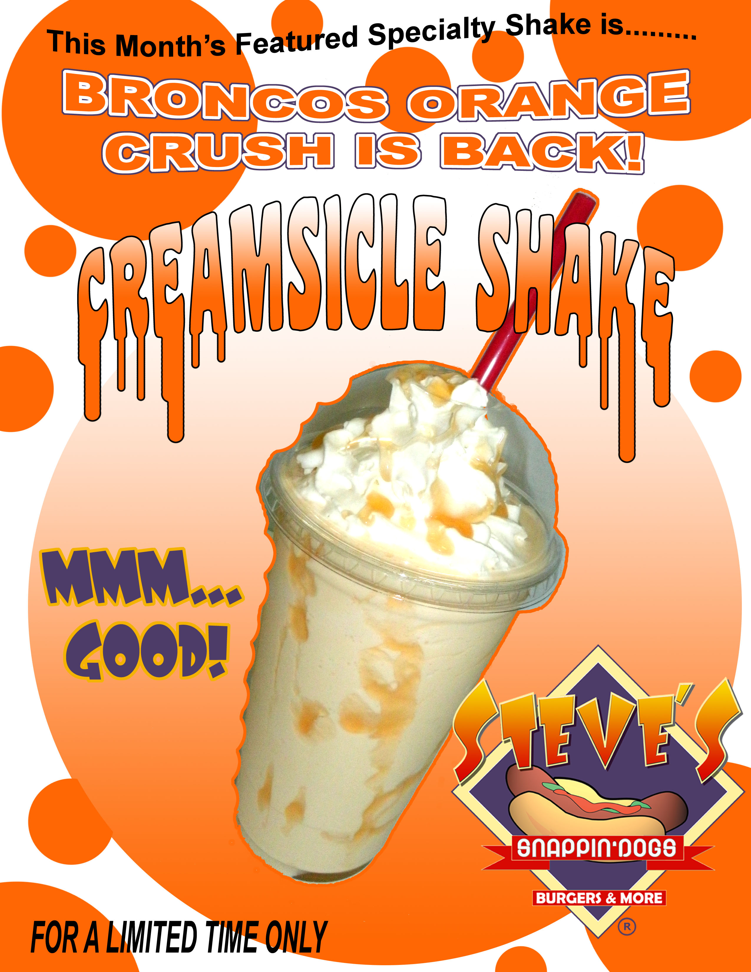 This Month's Shake Special: Bronco's Orange Crush Creamsicle