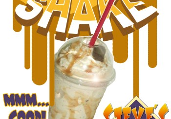salted carmel vanilla shake