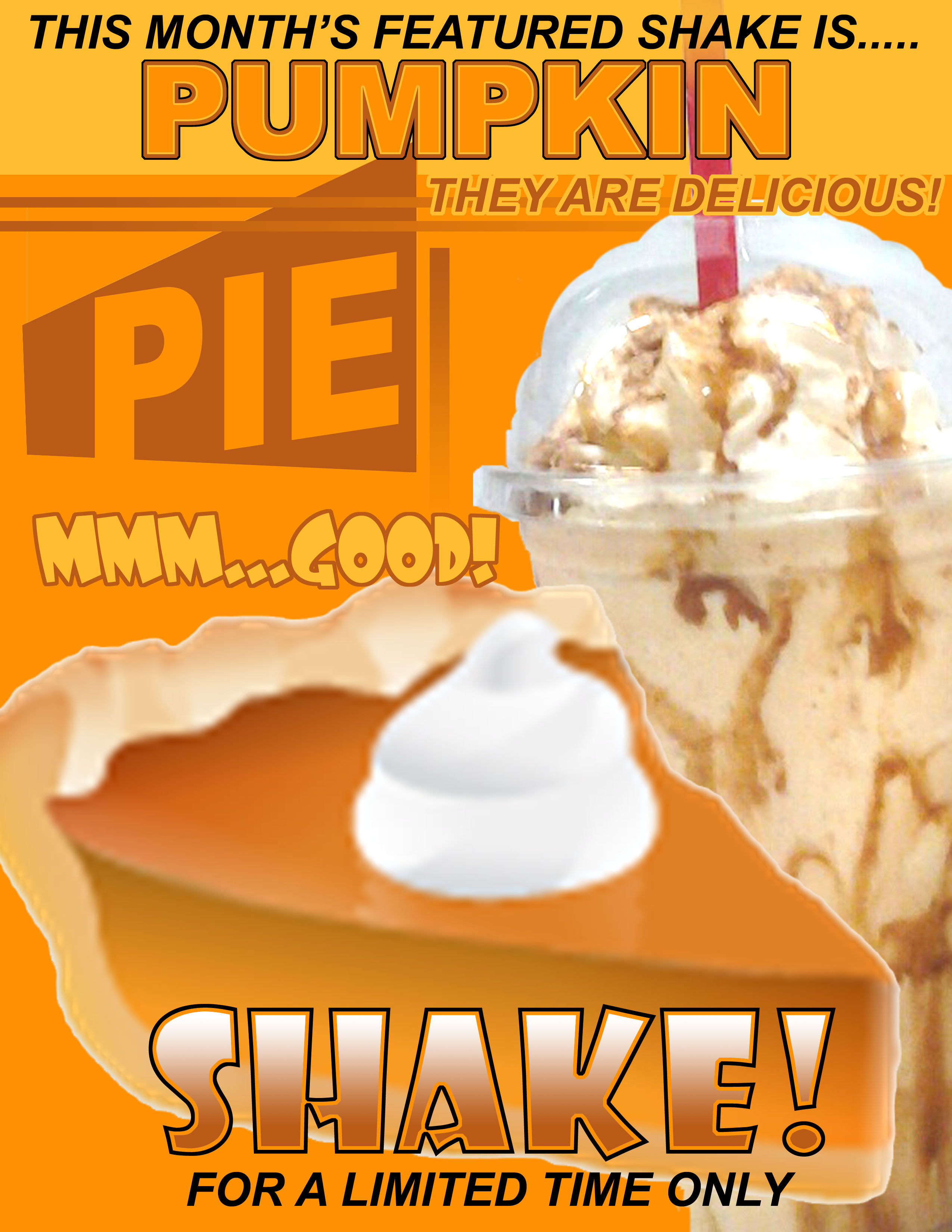 My, oh, my, come drink some pumpkin pie!