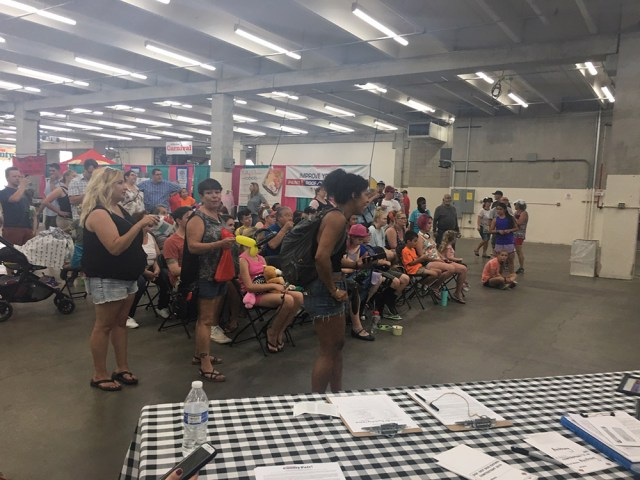 Denver County Fair Hot Dog Eating Contest Crowd July 20, 2019